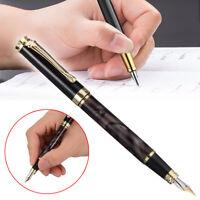 JINHAO 500 Marbled Black Gold Medium Nib Fountain Pen Golden Clip Gift Craft