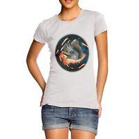 Women's Premium Cotton Space Bacon Squirrel Print T-Shirt