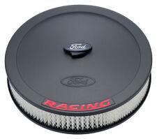 """Proform 302-352 Black Crinkle 13"""" Diameter Air Cleaner Kit w/ Embossed Red Ford"""