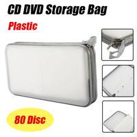 80 Disc Storage Wallet Organizer Bag & Holder CD DVD Case Box Album Home Car USA