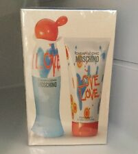 I LOVE LOVE By MOSCHINO 50ml EDT Spray & 100ml Body Lotion Set Woman's Perfume