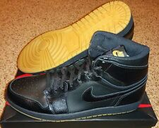 Nike Air Jordan 1 OG All Black/Gum Bottom High Fragment Melo Pinnacle OVO Sz 15