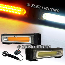 20W Amber&White COB LED Emergency Hazard Warning Flash Strobe Beacon Light Ba#90