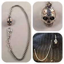 pocket watch chain Memento mori sugar skull
