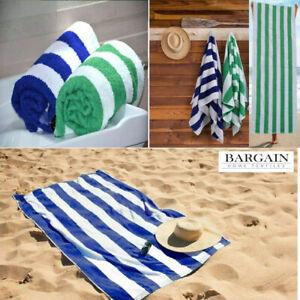 100% Egyptian Cotton Beach Towel Swimming Pool Towel Stripe Gym Bath Yoga Sheet