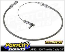 """Aeroflow Universal Stainless Steel Braided Throttle Cable 24"""" long AF42-1100"""