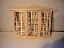 1/12th Dollshouse Miniature De Luxe 45 pane Bay Window with perspex