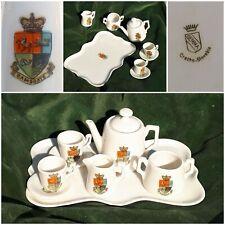 Crested China Minature Tea-set. Ramsgate. Gemma
