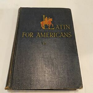 Latin For Americans Henry Ullman First Book Hardcover No Dust Cover 1943