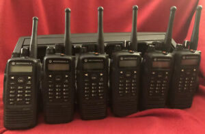 6 Motorola XPR 6550 Radios UHF 450-512 Mhz Xpr6550 With Impres Charger
