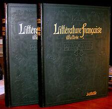 HISTOIRE DE LA LITTÉRATURE FRANÇAISE ILLUSTRÉE par Bédier, Larousse 1924