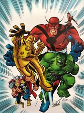 BRUCE TIMM rare AVENGERS 1 1/2 giclee CANVAS signed 2X STAN LEE #9/99 COA
