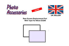 Rear Screen Replacement Part with Tape For Nikon D3200 D3300 Digital Camera