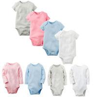 Newborn Infant Kids Baby Boys Girl Romper Bodysuit Jumpsuit Soft Clothes Outfits