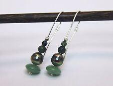 Perlohrringe Tahitiperlen 925 Silber Aventurin Tahiti Perlen Ohrringe Ohrhänger
