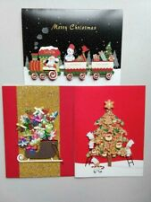 Nwt Burgoyne Handcrafted Christmas Cards 3-pc Set with Envelopes