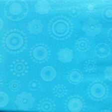 52x70 Oblong~Vinyl Tablecloth~Flannel Back~Aqua/Pool/Birthday Party/Retro~NEW