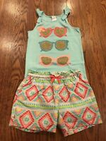 Gymboree Girls Sparkle Sunglasses Knot Tank w/ Cotton Diamond Shorts NWT GYM21