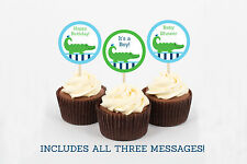 Alligator Cupcake Toppers Party Favor Tags Printable