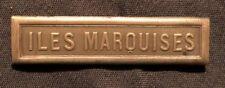Agrafe médaille coloniale ILES MARQUISES monnaie de Paris 4 ème type argent