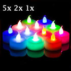 5/2/1Pcs Color Change Flameless LED Tealight Tea Candle Party Light Battery Lamp