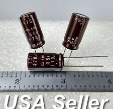 (Lot of 3) 470uF 35V Nippon Chemi-Con KME Radial Capacitors - Fast USA Shipping