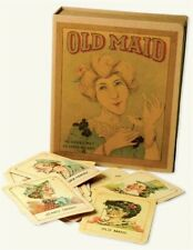 "Antique Replicated Old Maid Card Game Set 3 X 4"" Cards Ship"