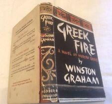 Winston Graham Greek Fire First Ed ** SIGNED COPY **