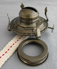 #2 OIL LAMP BURNER With ANTIQUE BRASS PLATED FINISH, Fits NEW U0026 OLD #
