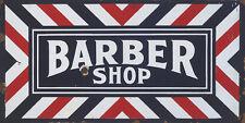 """BARBER SHOP"" ADVERTISING METAL SIGN"