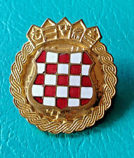 CROATIA ARMY - HV   ZNG - SOLDIER CAP BADGE FROM 1991-1995  enamel badge type 2