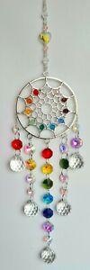 🌈Large Hanging Dreamcatcher Crystal Pendant Chakra Rainbow Window Suncatcher