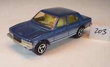 Majorette 1/60 Nr. 238 Peugeot 604 Limousine blaumetallic mit Streifen Nr.1 #203