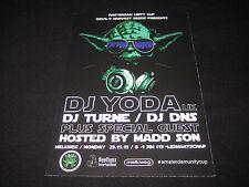 DJ YODA FLYER AMSTERDAM 23/11/15 Music Memorabilia Concert Hip Hop RARE