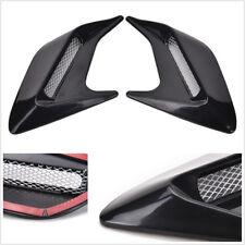 2pcs Black Car Side Air Flow Vent Fender Cover Intake Grille Decoration Sticker