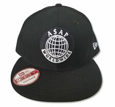 ASAP Worldwide Globe Logo Black Hat Cap New Official Rap Hip Hop A$AP Mob