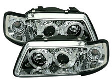 Audi A3 (1995-2000) Chrome Halo Angel Eye Halo Projector Front Headlights Lights