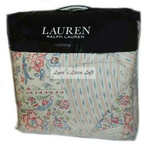 RALPH LAUREN Lucie Romantic Floral 3P KING COMFORTER SET Indian Motif $420
