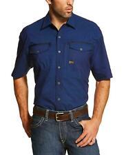 Ariat Men's Navy Rebar Short Sleeve Work Shirt - 10019161
