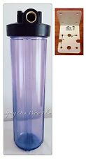 """Big Fat 20"""" Clear Whole House Water Filter System (1""""Port) + Mounting Bracket"""