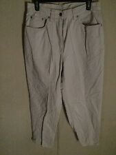 LL BEAN ~ Beige Jeans Size 12