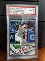 2017 Topps All-Star Edition Clayton Kershaw Baseball Card #50 PSA 10 Gem Mint