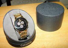 Citizen Men's AT2242-55E Axiom Eco-Drive Gold-Tone Bracelet Watch