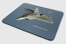 Mouse Pad: F22 Raptor - Military, Air Force, Fighter Jet - By PC Aviator Print