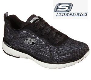 Sketchers Ladies Womens Flex Appeal 3.0 Sports Trainers Memory Foam Shoes Size