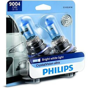 9004CVB2 Philips New Set of 2 Head Light Driving Headlamp Headlight Bulbs Pair