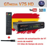 Original GTMEDIA V7S+Wifi FTA DVB-S2 Satellite Receiver Digital Full HD  Bisskey