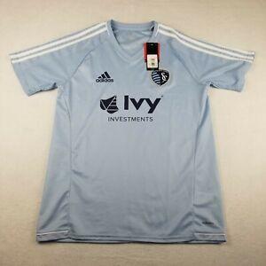 Adidas Sporting Kansas City MLS Ivy Investments Soccer Size M Jersey V Neck New