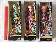 New Lot of 3 Monster High Dolls, Draculaura, Clawdeen Wolf, Frankie Stein Mattel