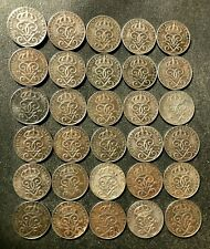 Vintage Sweden Coin Lot - 1942-1950 - ORE - 30 Excellent IRON Coins - FREE SHIP